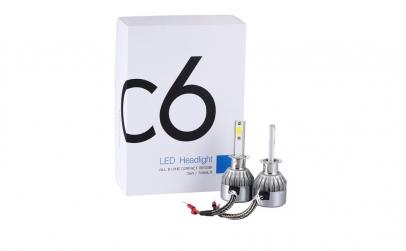 C6H1 - Set 2 Becuri Auto cu led H1