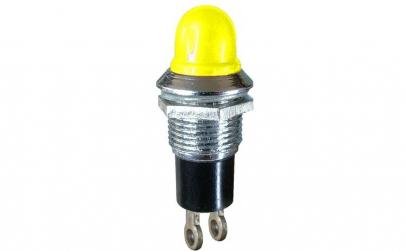 Indicator cu bec, 6,3V, 13x27mm, galben