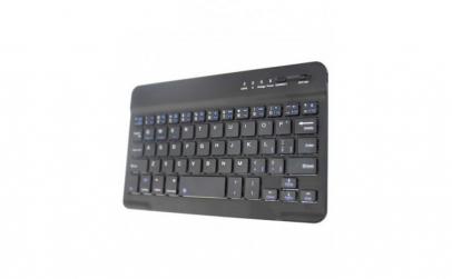 Tastatura wireless, din aluminiu, negru