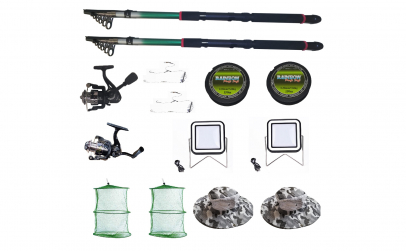 Set 2 lansete pescuit sport, 2 mulinete