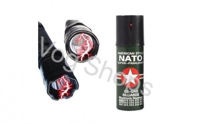 Set pentru aparare Lanterna + Spray