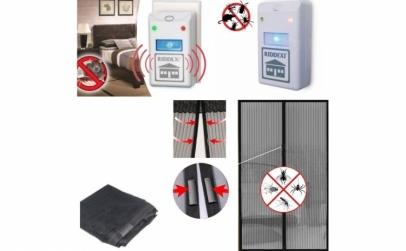 Pachet 2 aparate anti-insecte + plasa
