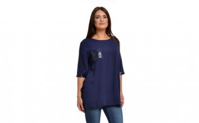 Tunica Dama Albastra cu Buzunare si