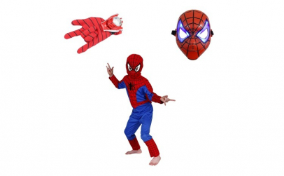 Set costum Spiderman marimea S, masca