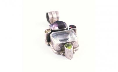 Pandantiv din Argint cu pietre semipreti