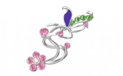 Brosa in forma de floare cu pietre