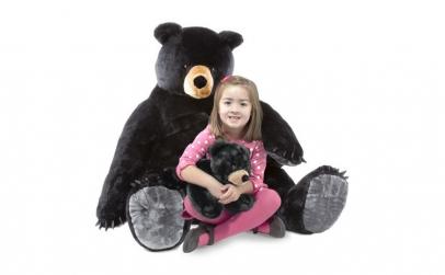 Urs negru gigant din plus - Melissa and