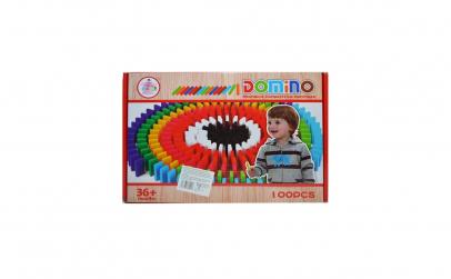 Domino Din Lemn Colorat, 100 Piese