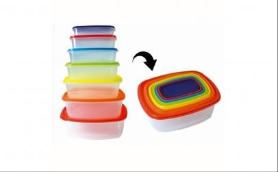 Set 7 caserole plastic