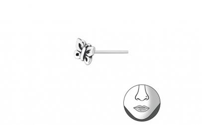 Piercing  nas din Argint, Fluture