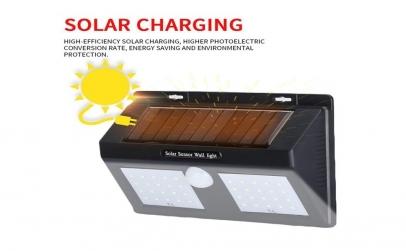 Lampa solara dubla cu 40 LED-uri