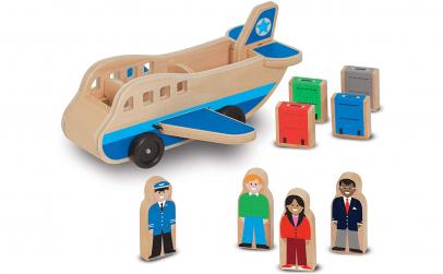 Jucarie lemn Avion + Pasageri si Bagaje