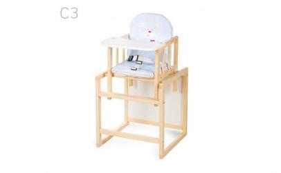 Scaun de masa multifunctional din lemn