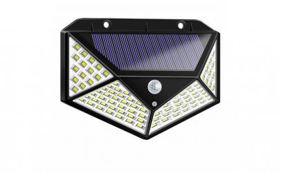 Lampa 100 LED cu panou solar, senzor