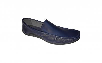 Scarpi din piele naturala noi bleumarin