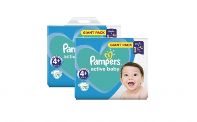 Pachet 2 x Pampers Active Baby Giant