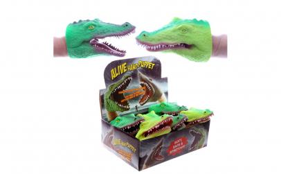Marioneta cauciucata crocodil