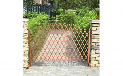Gard extensibil din lemn, pentru gradina