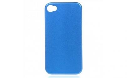 Husa metalica iPhone 4/4S - Albastru