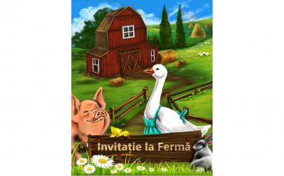 """Carte personalizata """"Invitatie la ferma"""""""