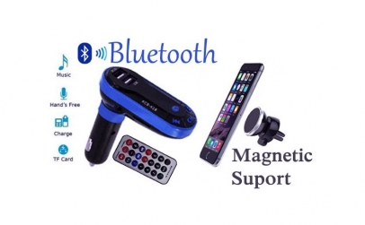 Modulator auto + suport magnetic telefon