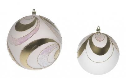 Glob 200mm opal decor Onda Pieno auriu
