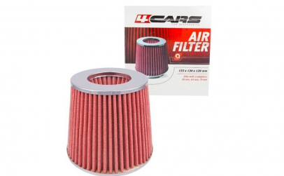 Filtru aer sport crom/rosu, 4cars
