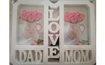 "Rama foto ""Love Mom and Dad"""