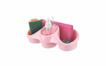 Dispenser sapun lichid cu suport burete