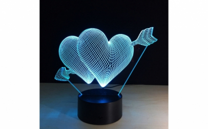 Lampa LED Decorativa New Idea 3D
