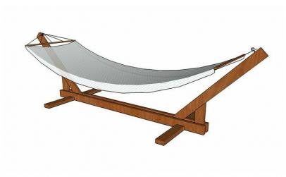 Suport din lemn pentru hamac gradina