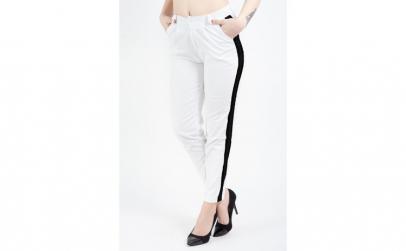 Pantaloni Casual Tip Blug Albi Cu