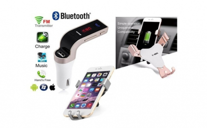 Modulator bluetooth + Suport auto