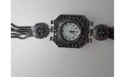 Ceas de dama cu strasuri, 21 cm