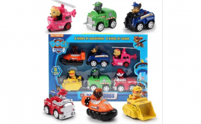 Set 6 vehicule Patrula Catelusilor