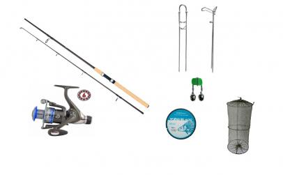 Set lanseta telescopica pescuit sportiv