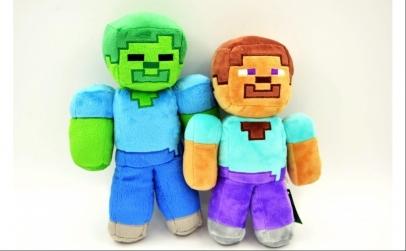 Set 2 jucarii de plus Minecraft