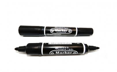 Set marker, 2 capete, negru, 10 buc