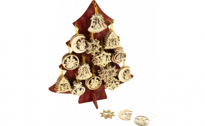 DECOR BRAD DIN LEMN CHRISTMAS 7 5 CM