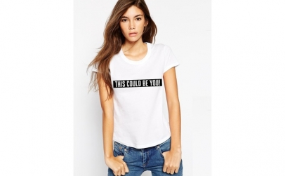 Tricou dama alb  - This could be you