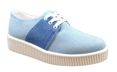 Pantofi Sport dama albastri cu talpa