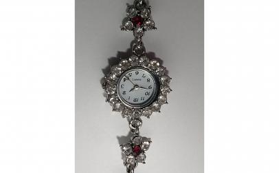 Ceas de dama cu strasuri, 19 cm