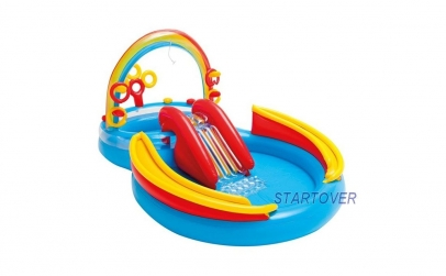 Piscina gonflabila tip tobogan Intex