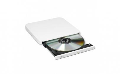 Ultra Slim Portable DVD R White