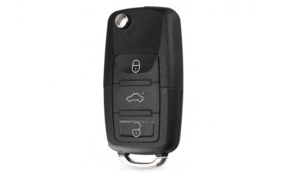Carcasa cheie VW tip briceag, 3 butoane