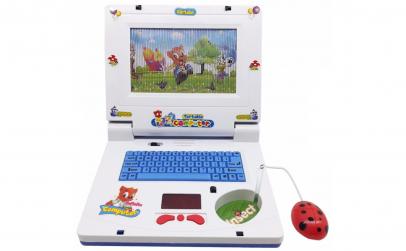 Laptop muzical pentru copii - albastru