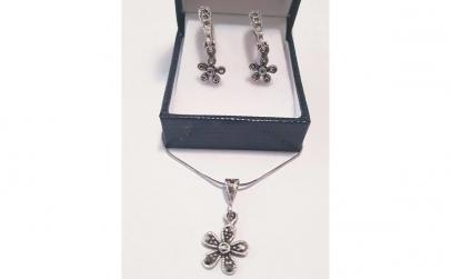 Set bijuterii din Argint cu Marcasite