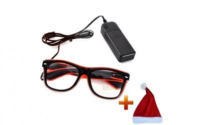 Ochelari wayfarer cu LED +Caciula de Mos