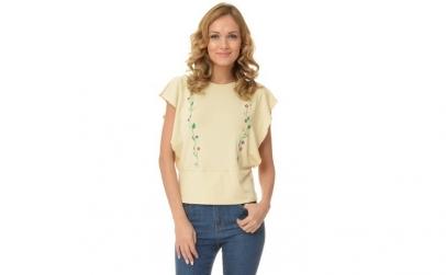 Bluza dama bej - Fluture