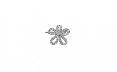 Brosa Argint 925 Floare cu Pietre